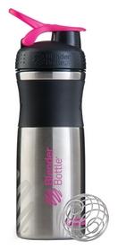 Шейкер с шариком BlenderBottle Stainless Steel - розоый, 820 мл (Steel Pink)