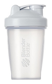 Шейкер с шариком BlenderBottle Classic - прозрачный-белый, 590 мл (Classic 20oz Trans/White)