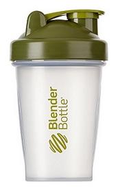 Шейкер с шариком BlenderBottle Classic - прозрачный-оливковый, 590 мл (Classic 20oz Trans/Moss)