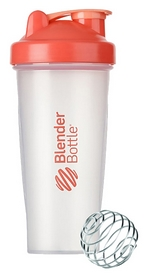 Шейкер с шариком BlenderBottle Classic - красный, 820 мл (Classic 28oz Trans/Coral)