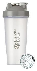 Шейкер с шариком BlenderBottle Classic - серый, 820 мл (Classic 28oz Trans/Grey)