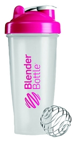 Шейкер с шариком BlenderBottle Classic - розовый, 820 мл (Classic 28oz Trans/Pink Alt)