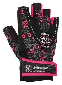 Перчатки атлетические женские Power System Classy PS-2910, черно-розовый (PS_2910_Black/Pink)