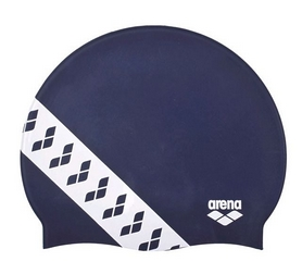 Шапочка для плавания Arena Team Stripe Cap Navy  001463-701, голубая (3468336074985)