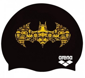 Шапочка для плавания Arena Super Hero Cap Batman 001533-503, черная (3468336087626)