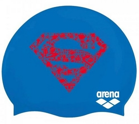Шапочка для плавания Arena Super Hero Cap Superman 001533-700, синяя (3468336087688)