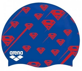 Шапочка для плавания Arena Super Hero Cap Superman JR 001553-720, синяя (3468336088043)