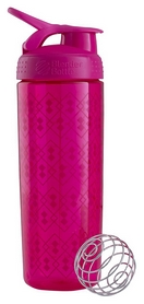 Шейкер BlenderBottle Sleek Zen Gala (WaterBottle & Shaker) - розовый, 820 мл (SLEEK PINK GEO LACE)