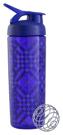 Шейкер BlenderBottle Sleek Zen Gala (WaterBottle & Shaker) - фиолетовый, 820 мл (SLEEK PURPLE TRATAN PLAID)