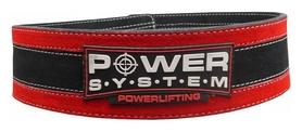 Пояс тяжелоатлетический PowerSystem PS-3840 StrongLift, черно-красный (PS_3840_Black/Red)
