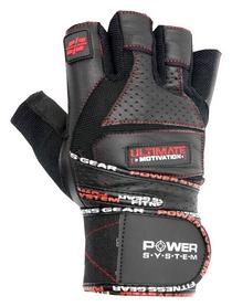 Перчатки атлетические Power System Raw Power PS-2810, черно-красный (PS_2810_Black/Red)