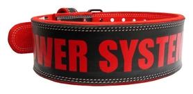 Пояс для пауэрлифтинга Power System Beast PS-3830, черно-красный (PS-3830_Black-Red)