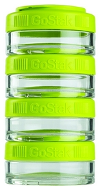 Контейнер для спортивного питания BlenderBottle GoStak 4 Pak - зеленый, 4х40 мл (GS 4 Pak- 4 * 40mlGreen)