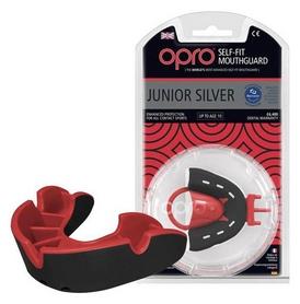 Капа Opro Junior Silver, черная  (002190001)
