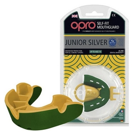 Капа Opro Junior Silver, зеленая (002190003)