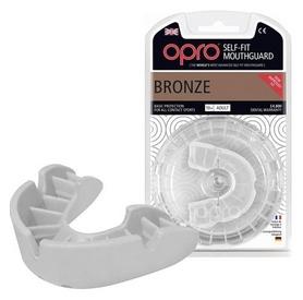Капа Opro Bronze, белая (002184006)