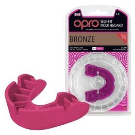 Капа Opro Bronze, розовая (002184004)