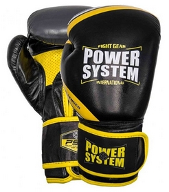 Перчатки боксерские Power System Challenger - желтые (PS-5005_Black/Yellow)