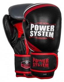 Перчатки боксерские Power System Challenger - красные (PS-5005_Black/Red)