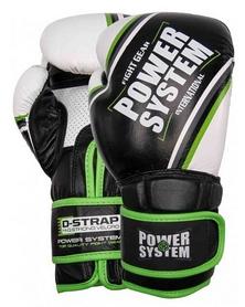 Перчатки боксерские Power System Contender - зеленые (PS-5006_Black/Green)