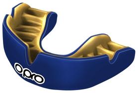Капа Opro Power Fit Single, сине-золотая (002268005)