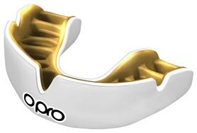 Капа Opro Power Fit Single, бело-золотая (002268004)