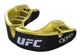 Капа Opro Gold UFC Hologram, черно-золотая (UFC_Gold_Black)