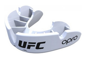 Капа Opro Junior Bronze UFC Hologram, белая (002264002)