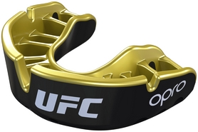 Капа Opro Junior Gold UFC Hologram, черно-золотая (UFC_Junior-Gold_Black)