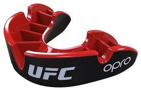 Капа Opro Junior Silver UFC Hologram, черно-красная (002265002)