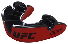 Капа Opro Junior Silver UFC Hologram, красно-черная (UFC_Junior-Bronze_Black)