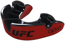Капа Opro Silver UFC Hologram, красно-черная (002259001)