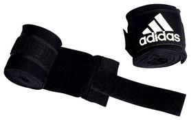 Бинты боксерские Adidas 57 мм - черные, 3,5 м (AB57-BLK-355)