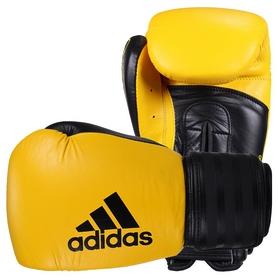 Перчатки боксерские Adidas Hybrid 200, желтые (Adi-Hyb200-YB)