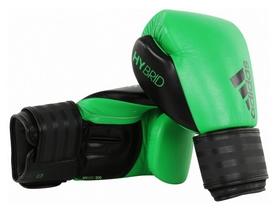Перчатки боксерские Adidas Hybrid 200, зеленые (Adi-Hyb200-GBLK)