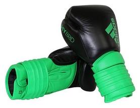 Перчатки боксерские Adidas Hybrid 300, зеленые (Adi-Hyb300-BGr)