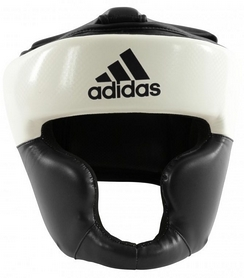 Шлем боксерский  Adidas Response, бело-черный (Adi-Res-WB)