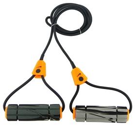 Эспандер трубчатый для фитнеса Nike Long Length Heavy Resistance Band 2.0, черно-оранжевый (N.ER.12.096.NS-)