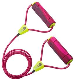 Эспандер трубчатый для фитнеса Nike Long Length Medium Resistance Band 2.0, розово-зеленый (N.ER.17.695.NS-)