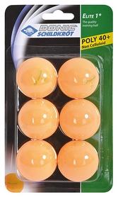 Набор мячей для настольного тенниса Donic Elite 1* 40+ - оранжевые, 6 шт (4000885085181)