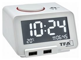 "Будильник с функцией USB зарядки TFA ""HomTime"" (60201702)"
