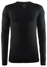 Термофутболка мужская с длинным рукавом Craft Active Comfort RN LS Man AW 17, черная (1903716-B199)