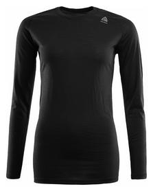 Термофутболка женская Aclima LightWool Shirt Crew Neck Woman, черная (AC121101001)