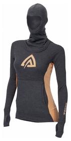 Худи женское Aclima WarmWool Hood Sweater Woman, серо-оранжевое (AC145901011)
