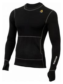 Худи мужское Aclima WarmWool Hood Sweater Man, черное (AC1459002001)