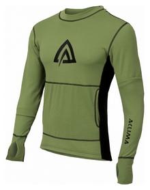 Худи мужское Aclima WarmWool Hood Sweater Man, зелено-черное (AC145902022)