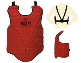 Защита груди (жилет) ZLT ZB-4222-R, красная