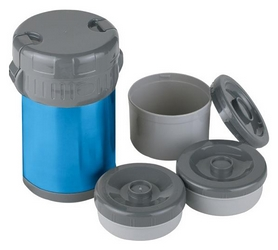Термос стальной Ferrino Inox Lunch Jug With 3 Containers, 1,5 л (924876)