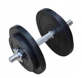 Гантель наборная обрезиненная RN Sport, 16 кг (RN_OD16_2)