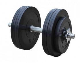Гантель наборная обрезиненная RN Sport, 26 кг (RN_OD26)